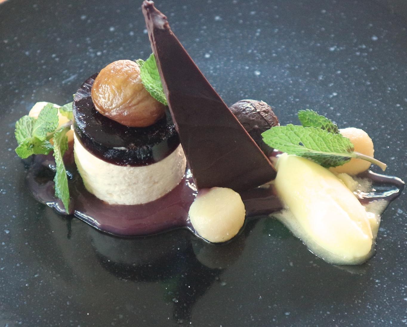 Maroni Schokoladen mouse von Küchenchef Johannes Fasching in der Wasnerin
