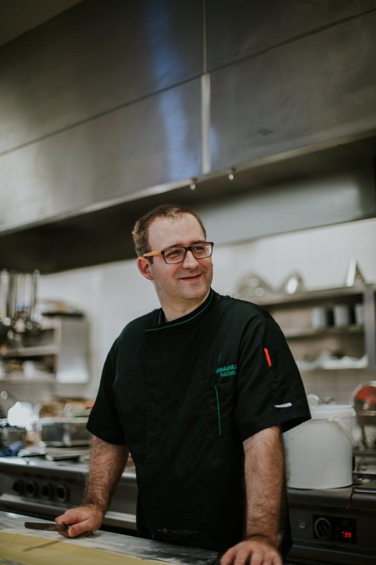 Küchenchef Johannes Fasching